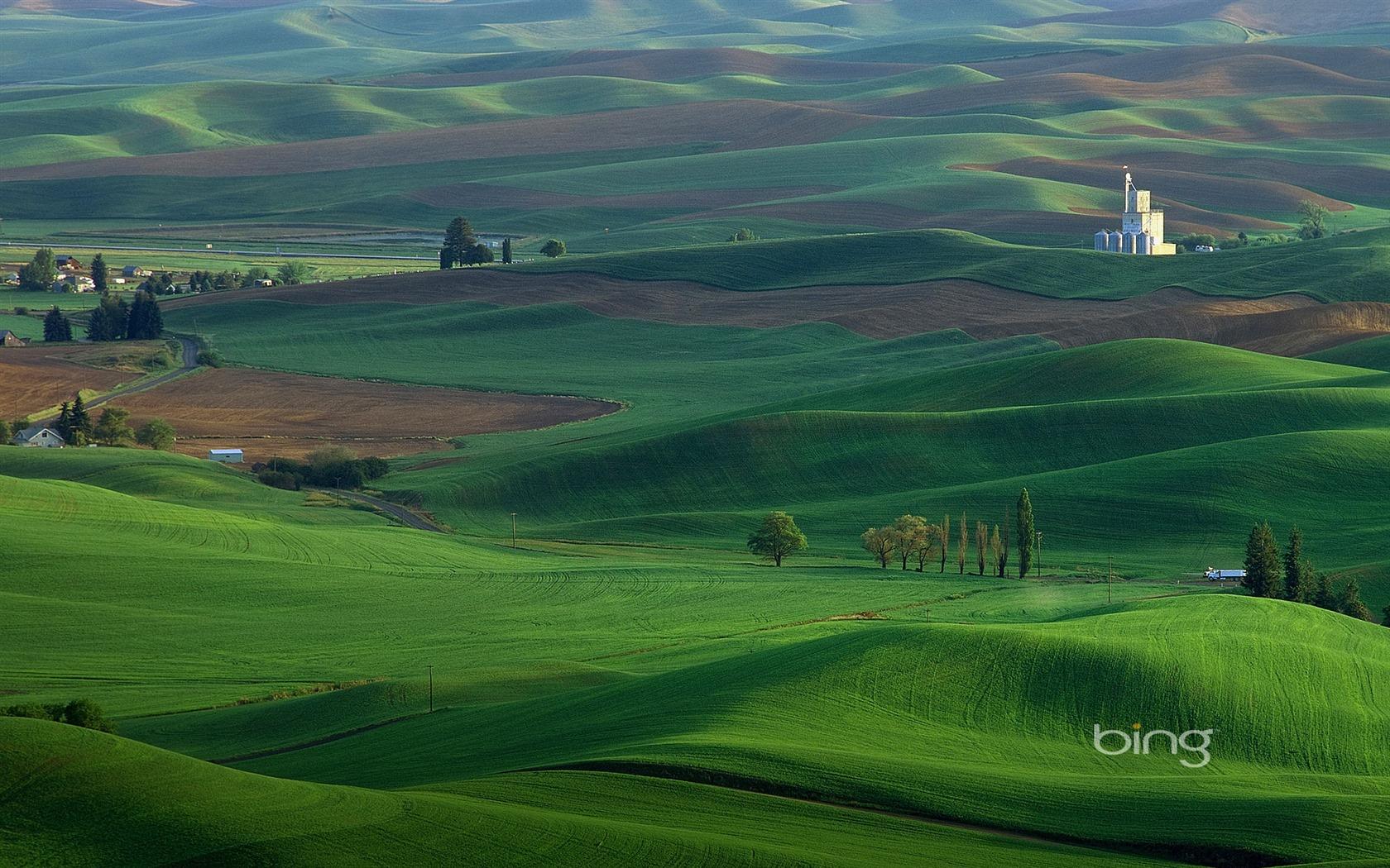 Windows 7 Bing Thmes les prairies maison papier peint panoramique 1680x1050