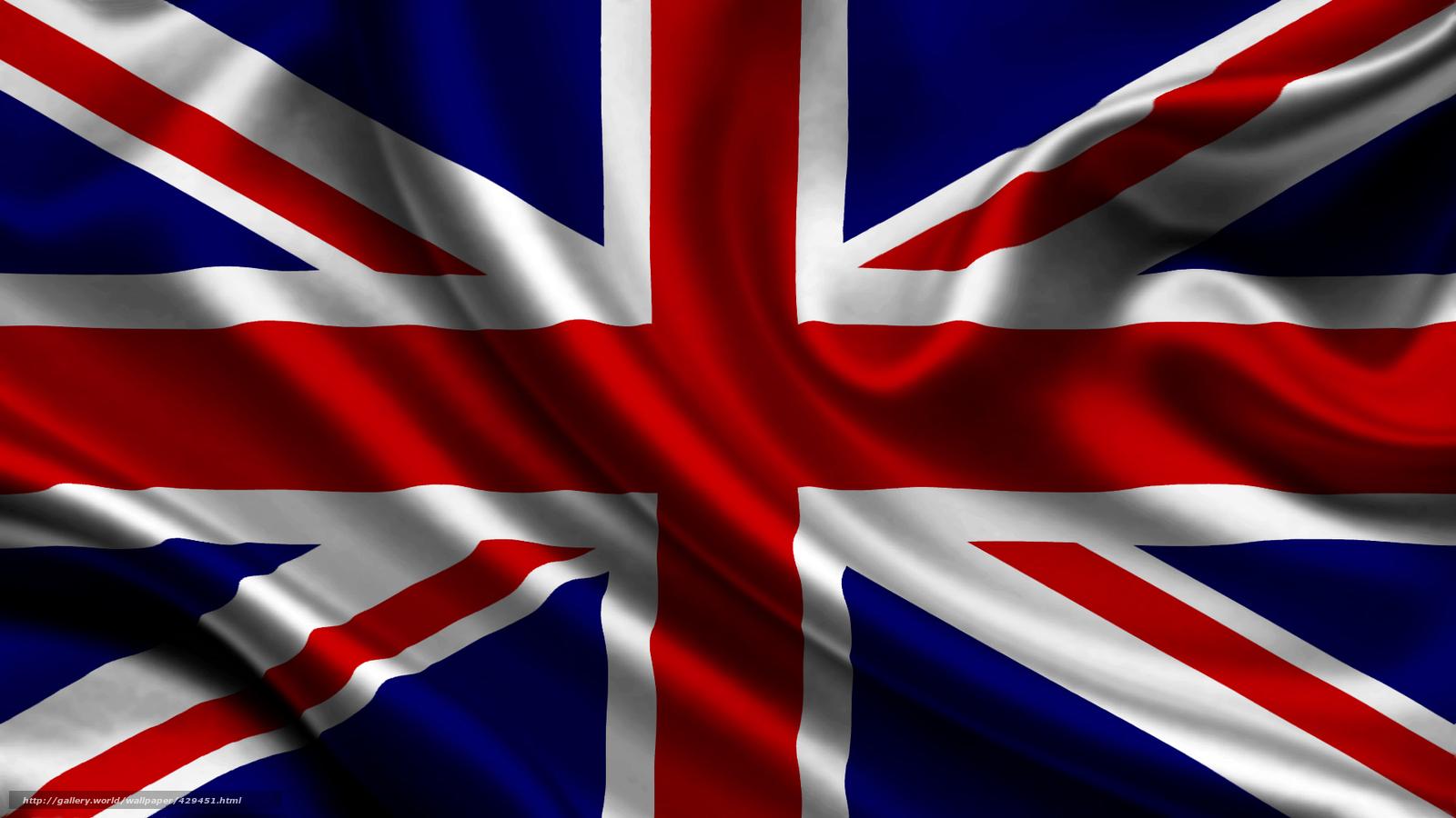 Download wallpaper united kingdom satin flag United 1600x900