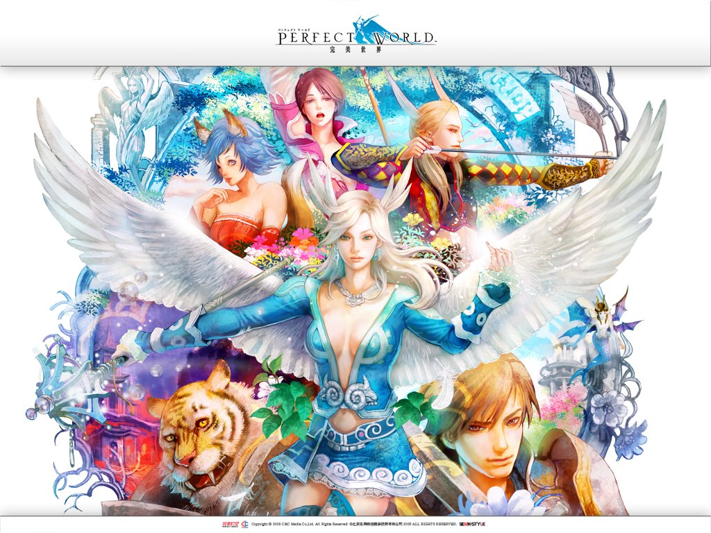 Wallpaper do game online Perfect World 1024x768