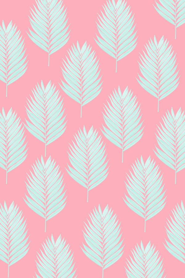 Downloadable Palm leaf pattern wallpapers for you in different 600x900