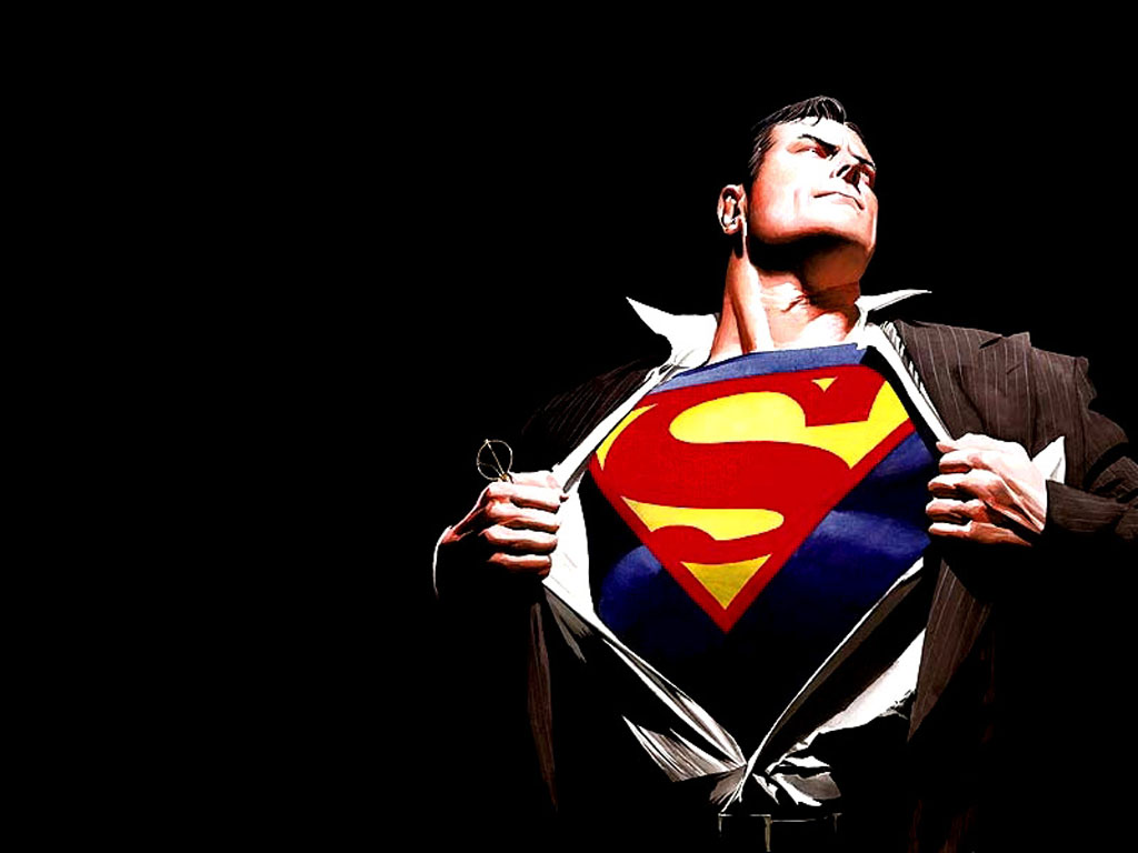 Superman desktop wallpaper Superhero 1024x768