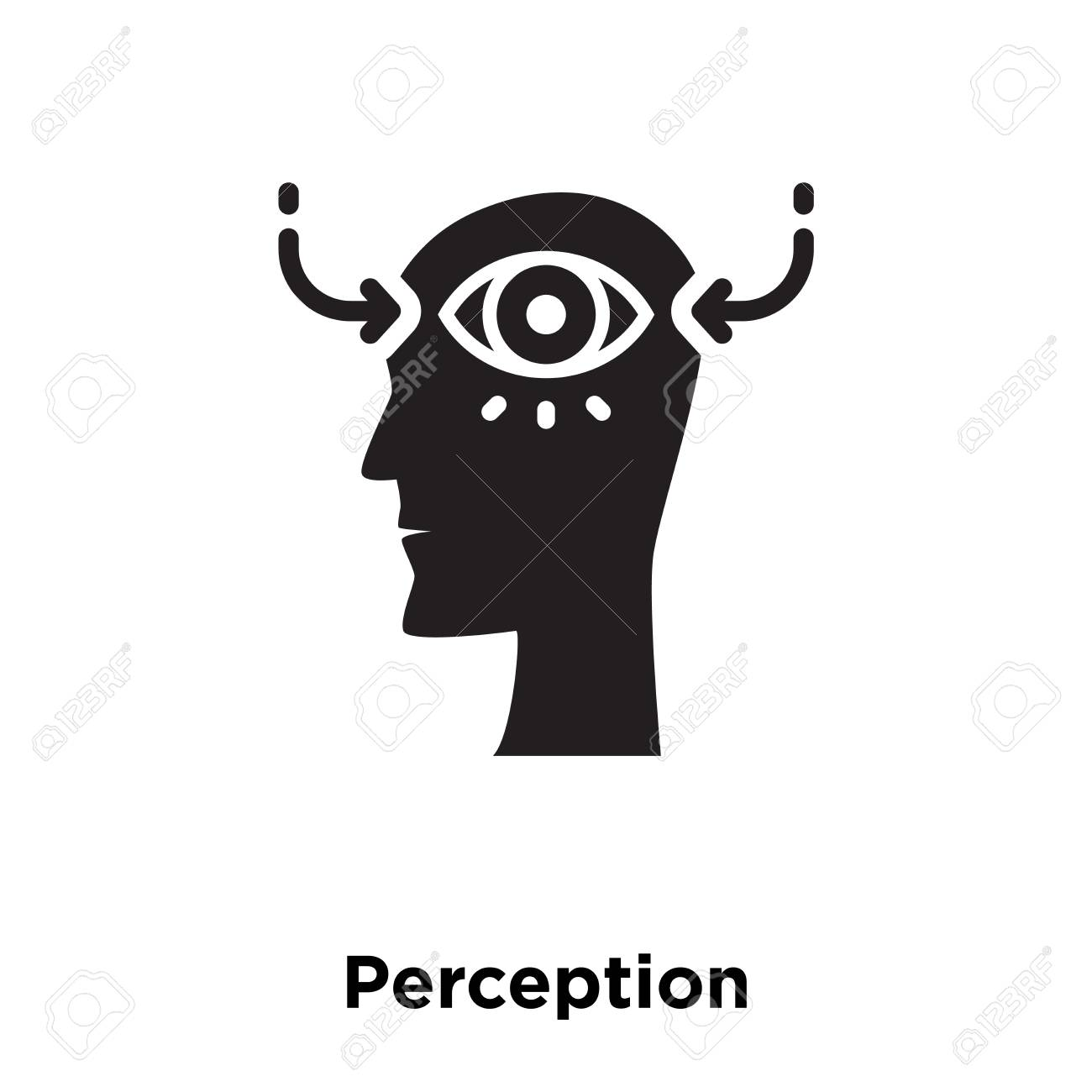 Perception Icon Vector Isolated On White Background Logo Concept 1300x1300
