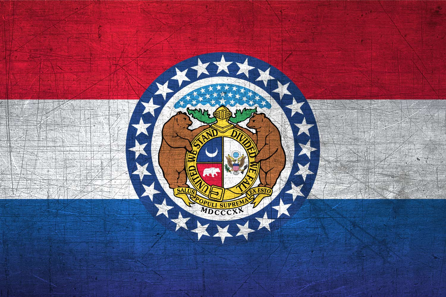Missourian Flag Metal Flag of Missouri   Download it for 1500x1000