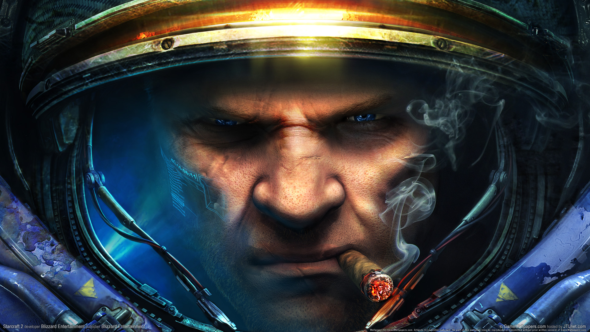 Gaming Wallpaper full hd starcraft epic face blue eye 1920x1080