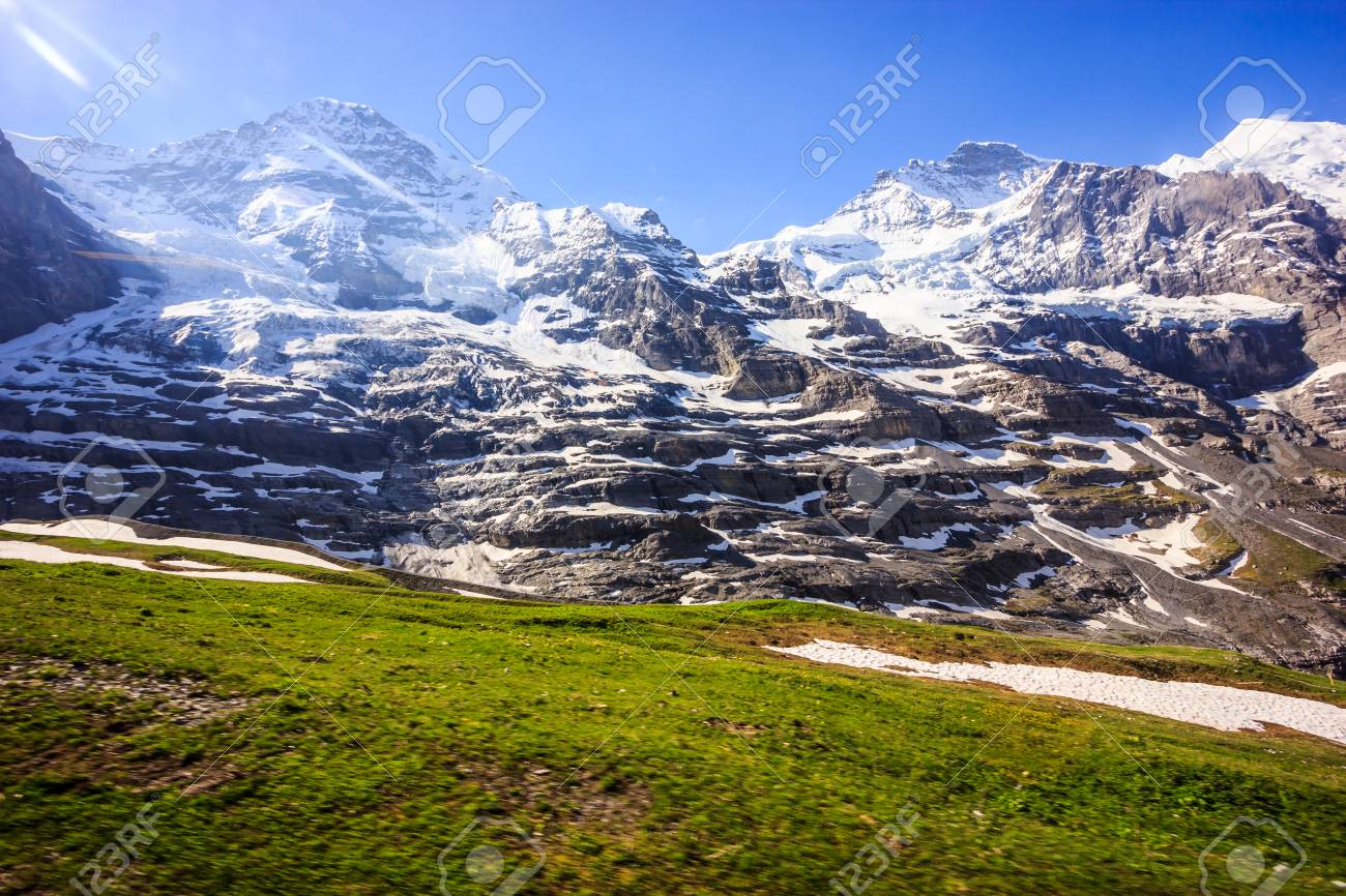 Best Beautiful panoramic view of jungfrau mountain alps landscape 1300x866