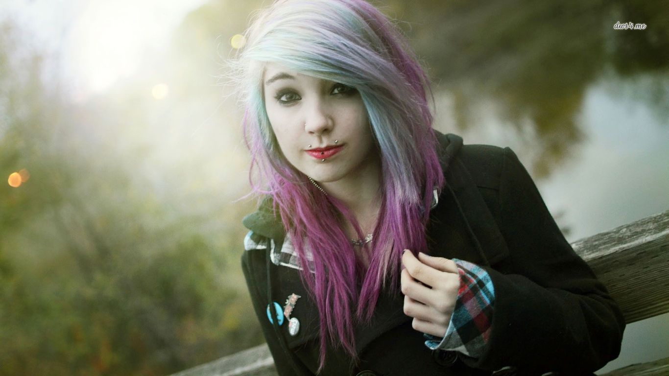 Beautiful Cute Emo Girl HD Wallpaper   Stylish HD Wallpapers 1366x768