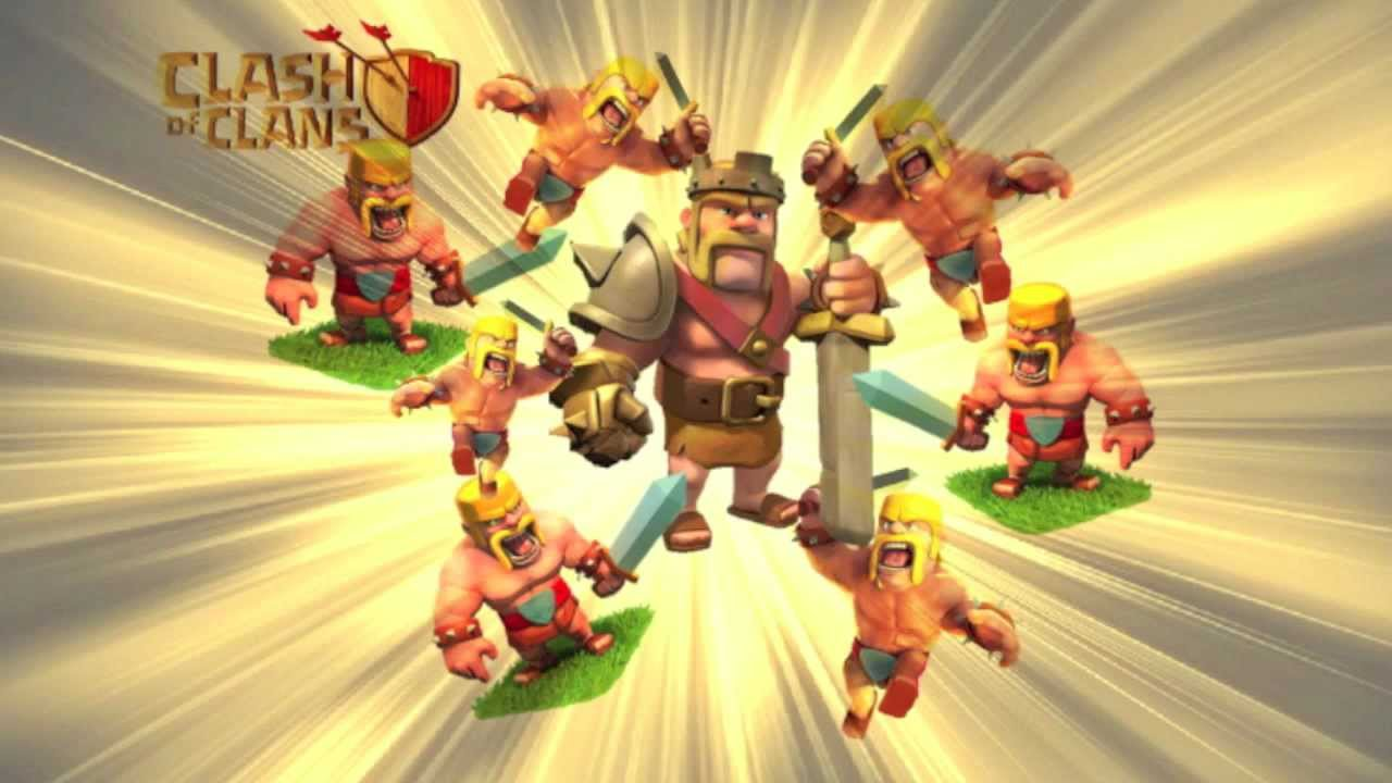 Wallpaper Barbarian Clash of Clan Clash of Clans Barbarian King 1280x720
