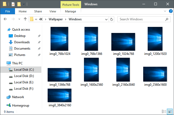 Windows 10 Wallpaper Folder Path