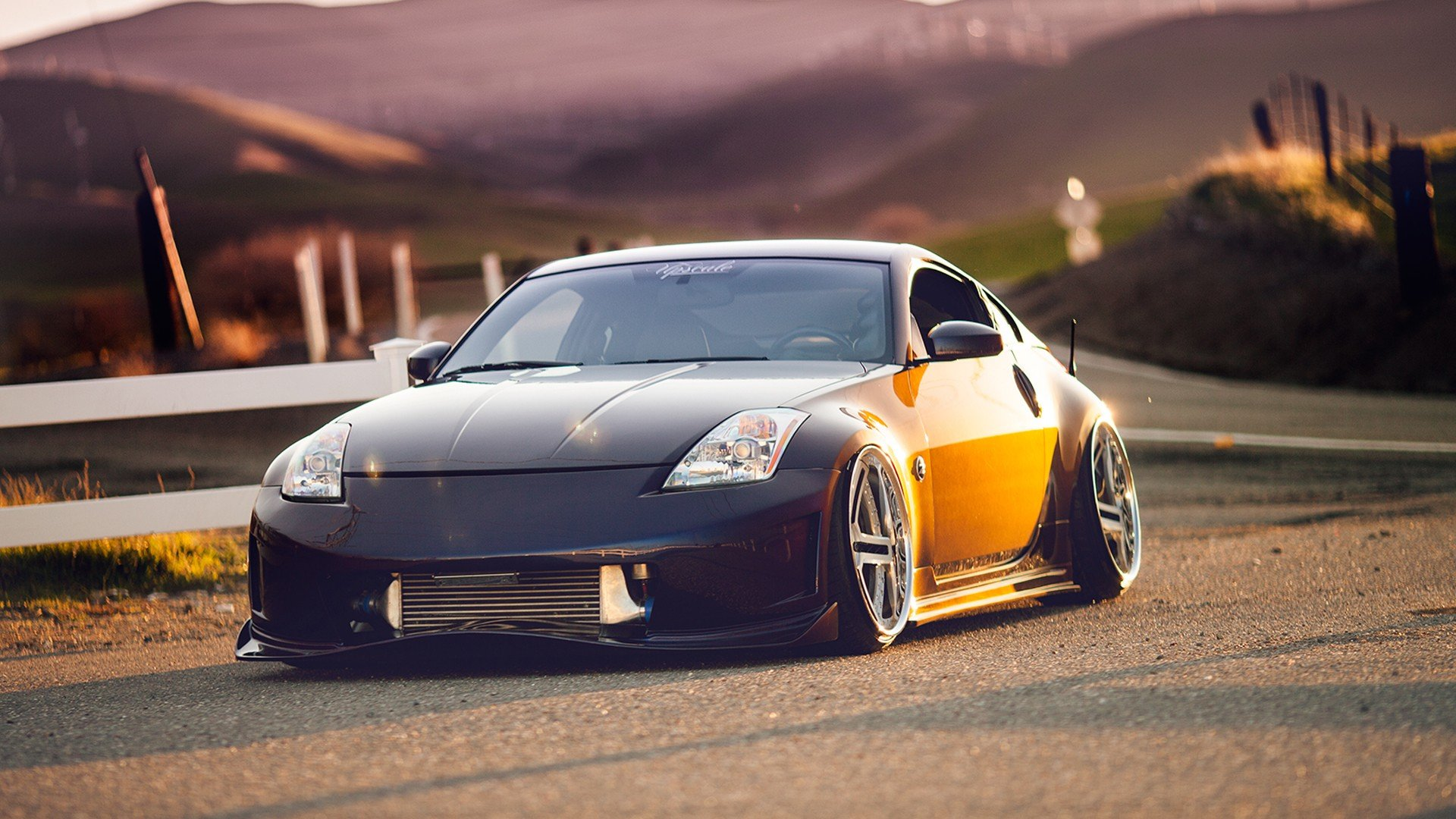 Nissan 350z Slammed tuning roads wallpaper 1920x1080 52177 1920x1080