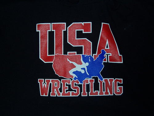 USA wrestling Logo on sweatshirt only worn 3 times By 500x375