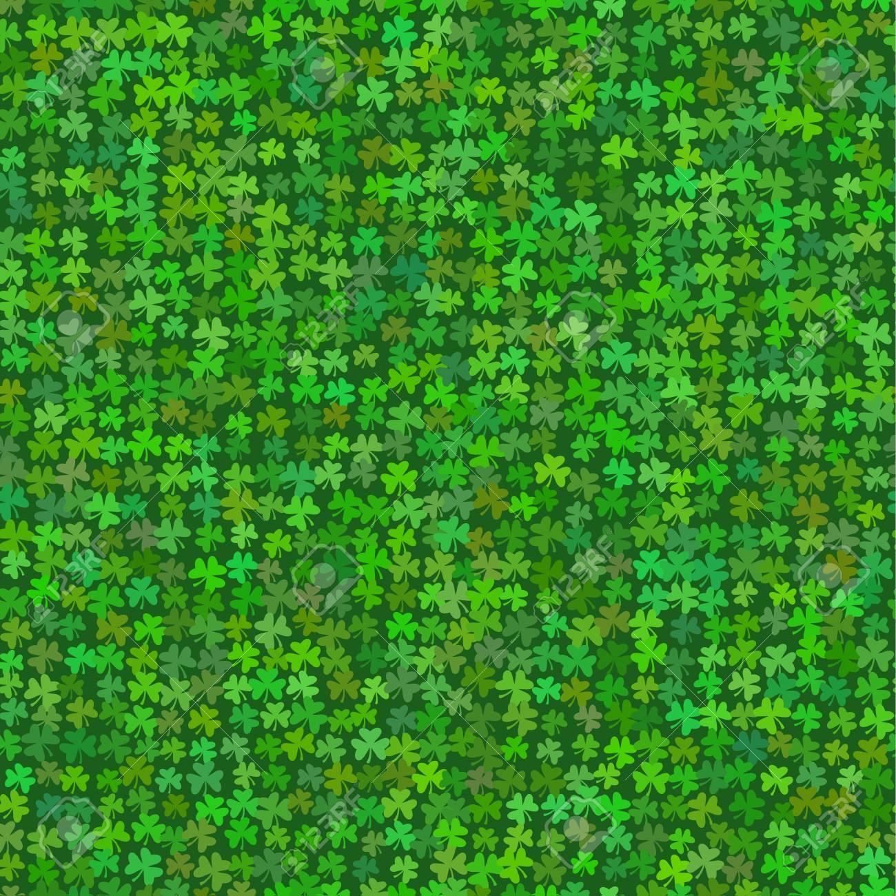 St Patricks Day Backgrounds Green Shamrock Seamless Patterns 1300x1300