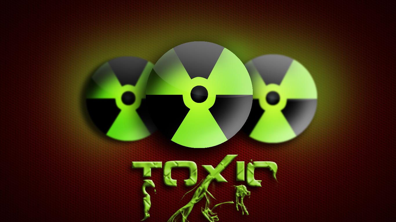 Toxic Logo Wallpaper Toxic wallpaper by 1366x768