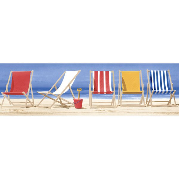 Beach Chairs Border   Wall Sticker Outlet 600x600