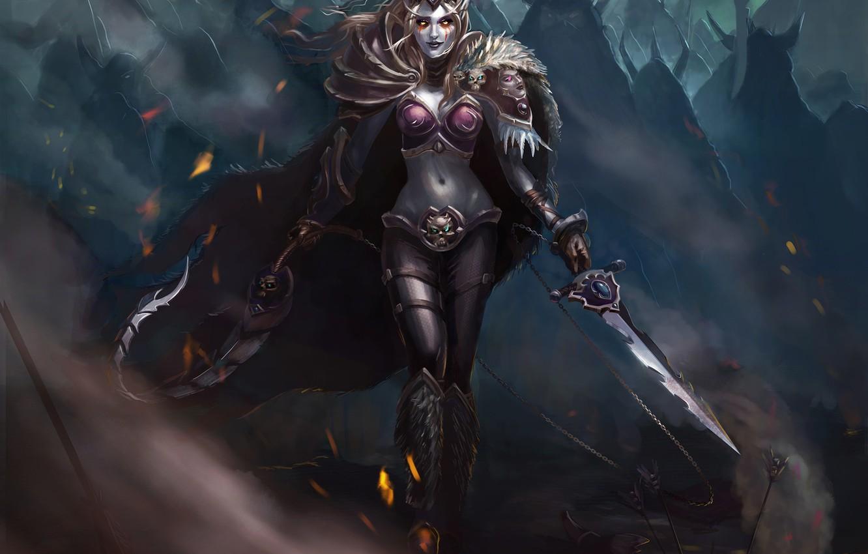 Wallpaper look weapons elf armor Fantasy cloak dark elf 1332x850