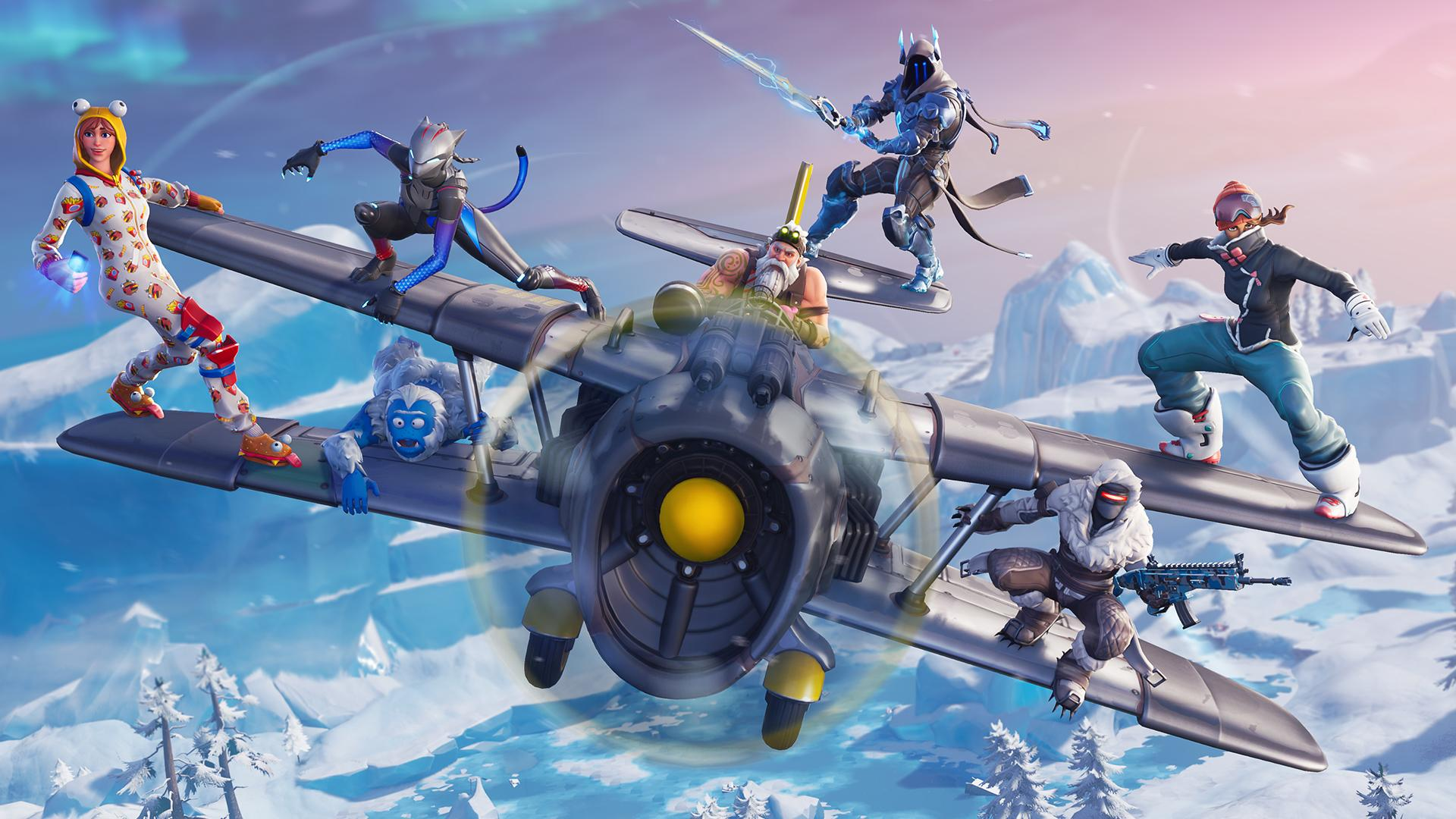 Fortnite Season 7 HD Background   Winter is Here 4424 Wallpapers 1920x1080