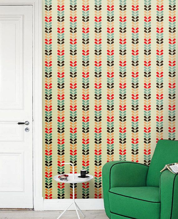 Removable self adhesive colourful vinyl Wallpaper wall sticker   Cute 570x702