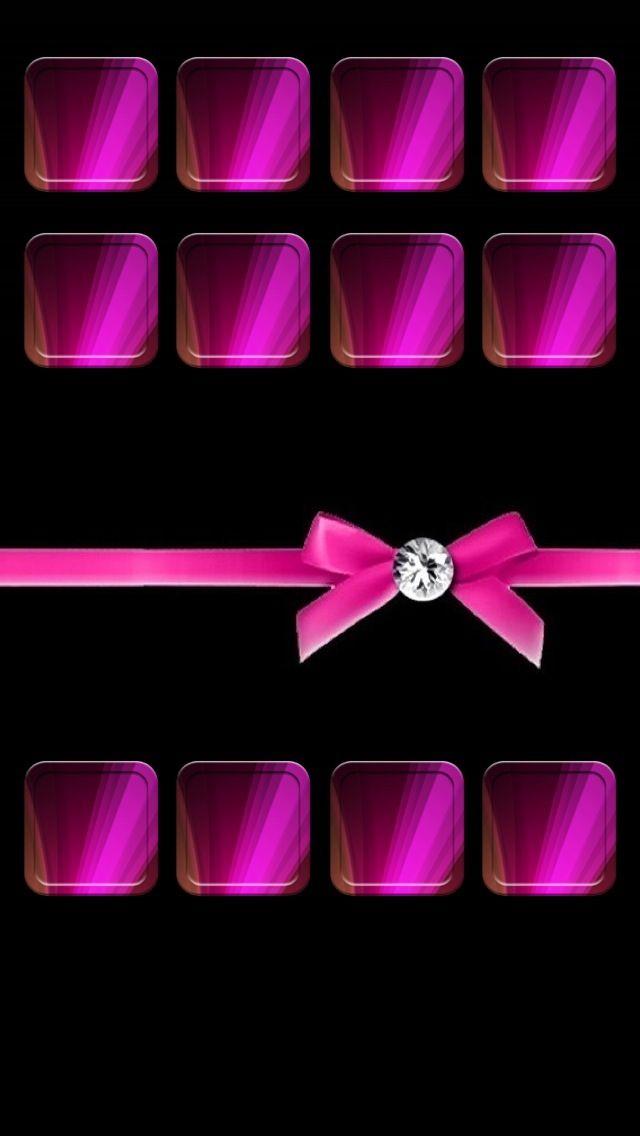 Hot Pink N Black iPhone 5 Wallpaper Wallpapers Pinterest 640x1136