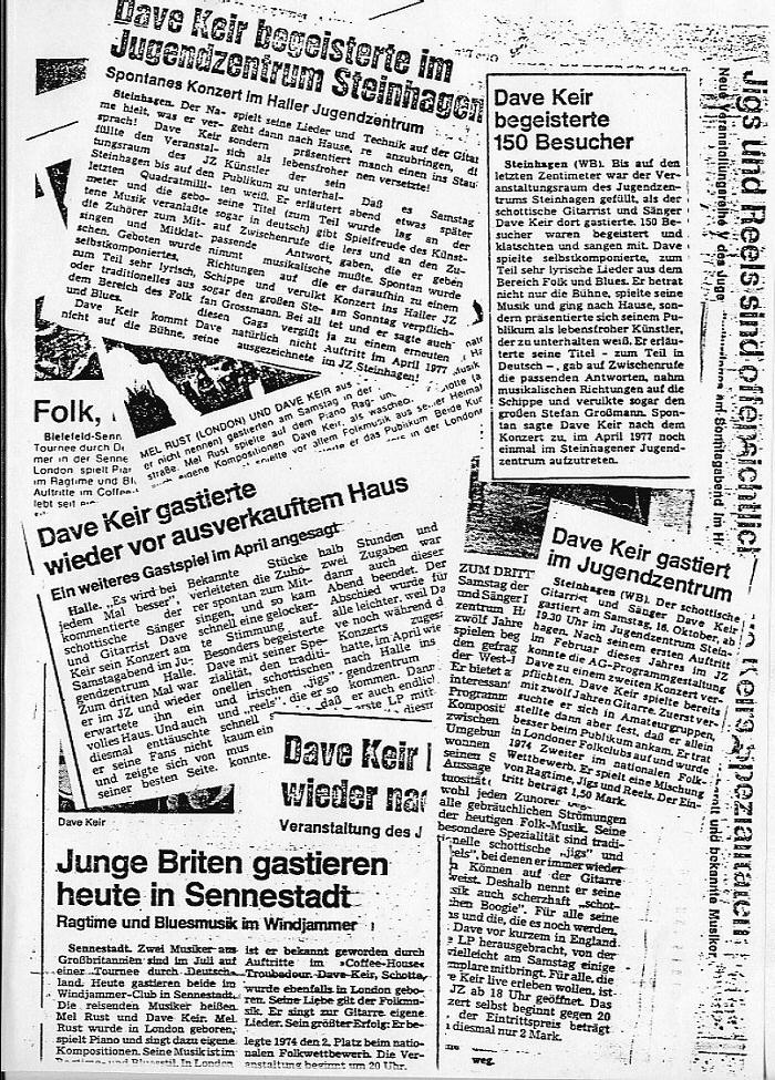 Below is another collage of German newspaper reviews which were 700x975