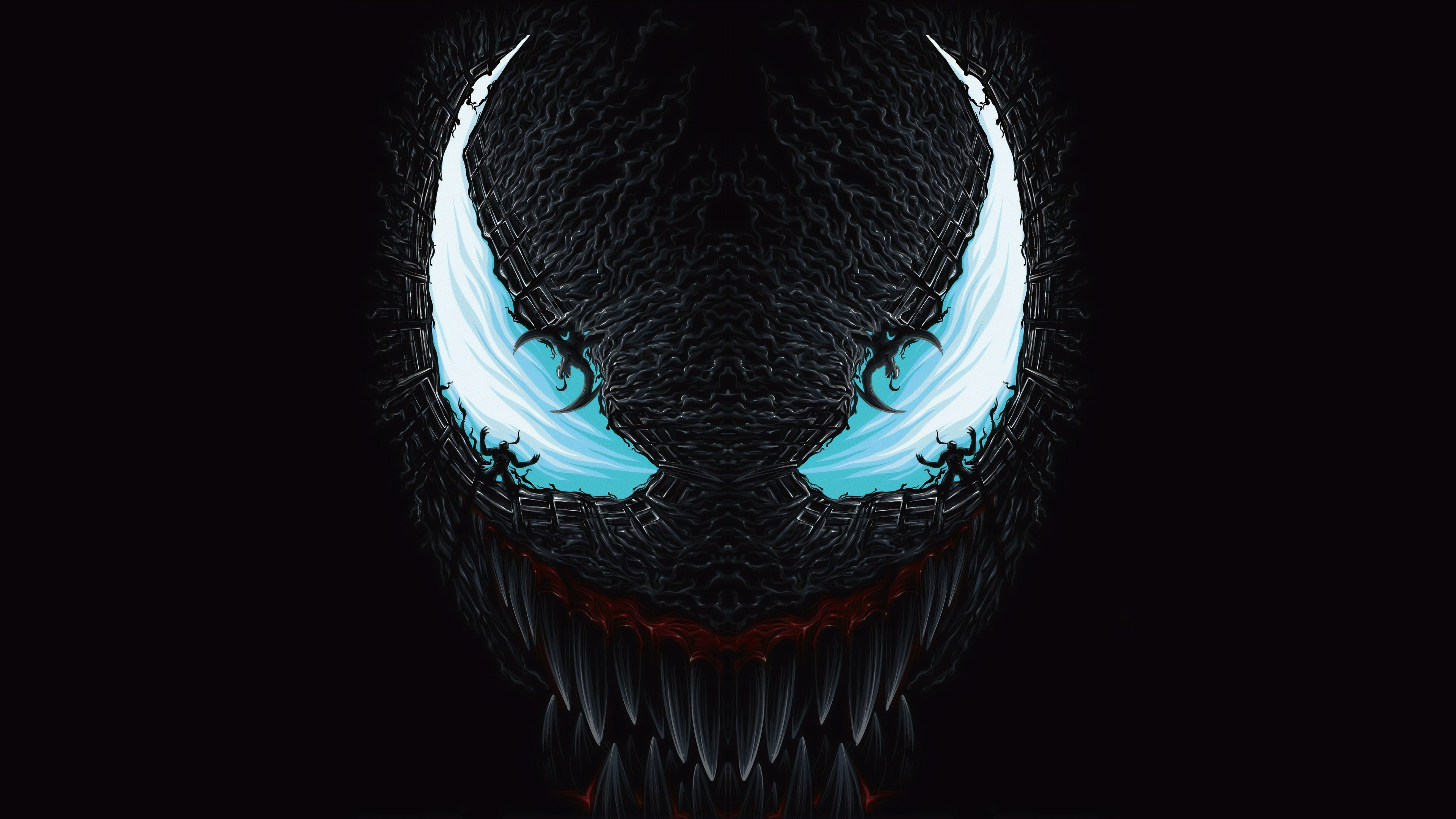 4k Venom Art Blue Venom wallpapers superheroes wallpapers hd 3840x2160