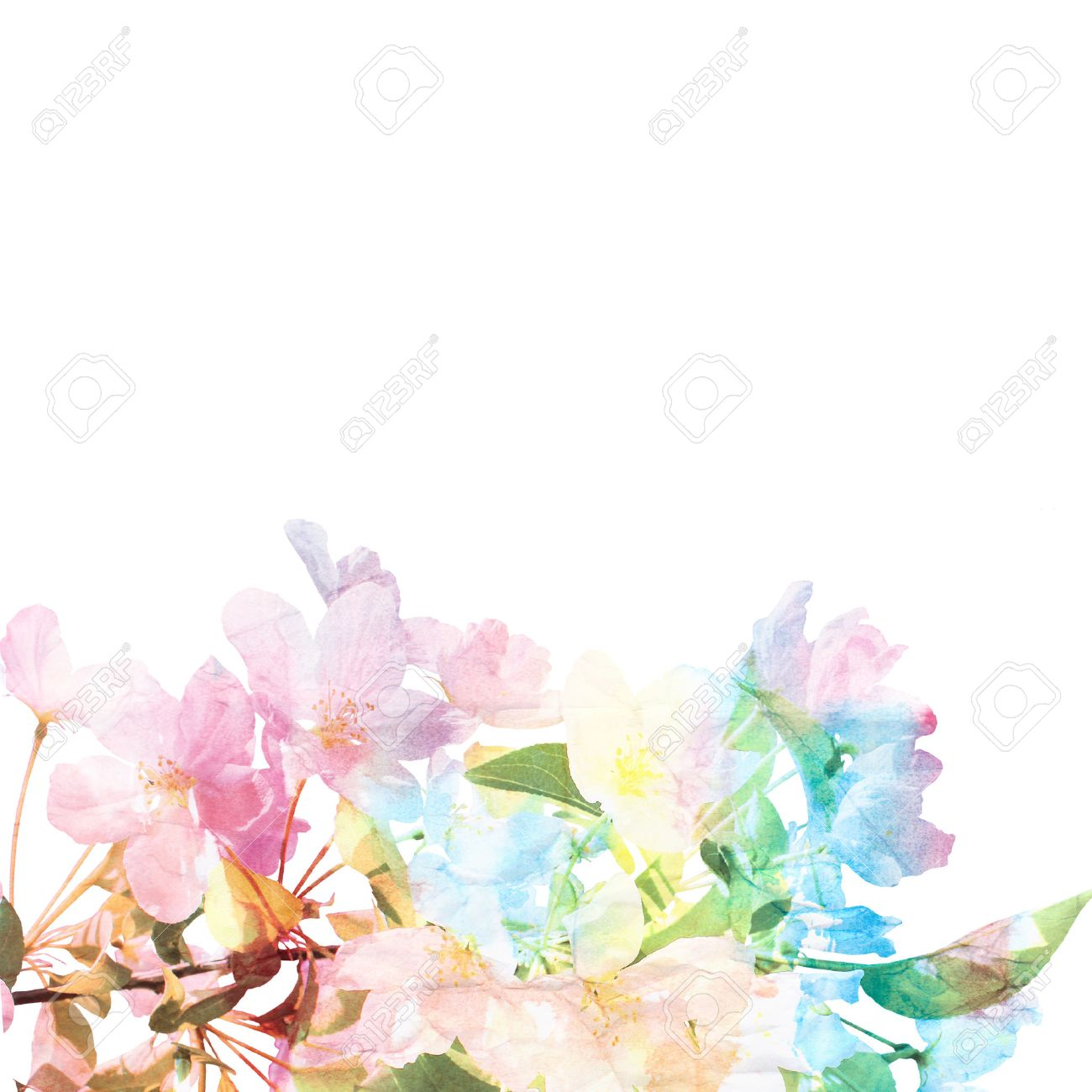 Floral Background Watercolor Floral Bouquet Card Stock Photo 1300x1300
