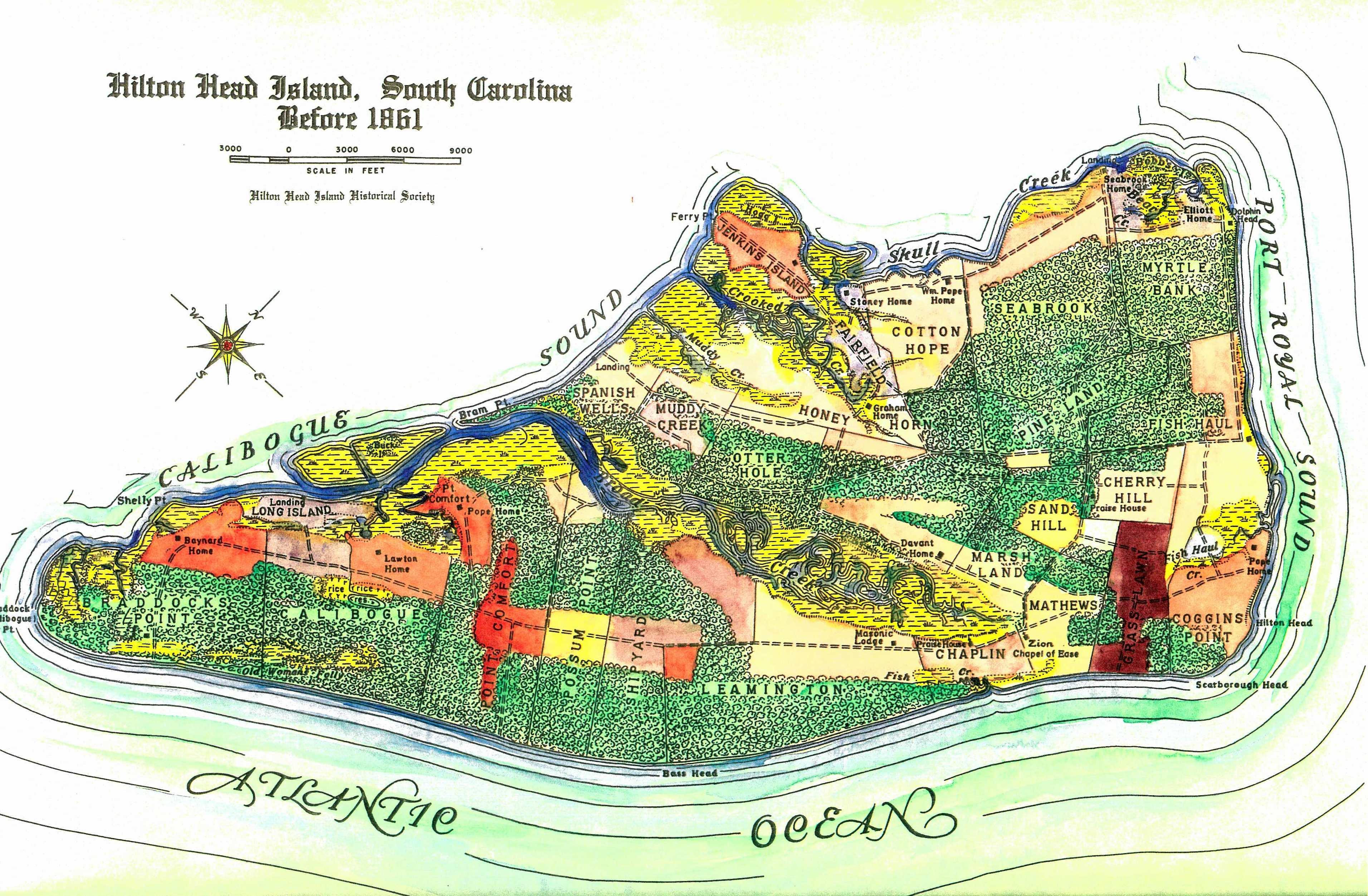 Hilton Head South Carolina Map Images TheCelebrityPix 3824x2506