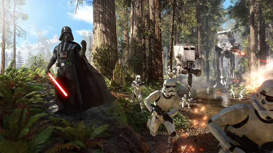 50 Star Wars Battlefront Endor Wallpaper On Wallpapersafari