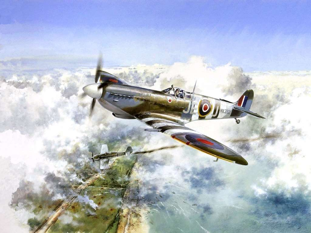 View Of Supermarine Spitfire Wallpaper Nice Wallpapers 1024x768