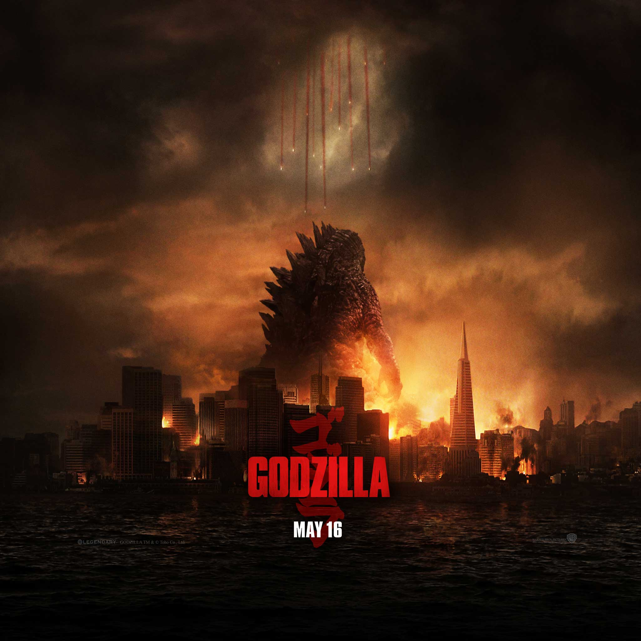Godzilla Movie 2014 HD iPhone iPad Wallpapers 2048x2048