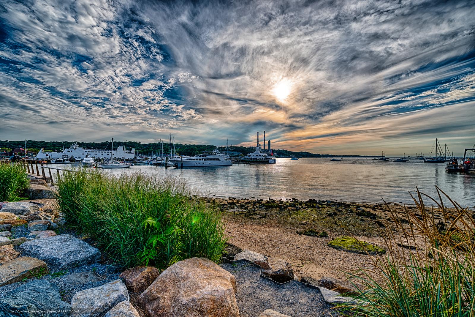 Download Hintergrund Port Jefferson Harbor   Long Island New York 1600x1067