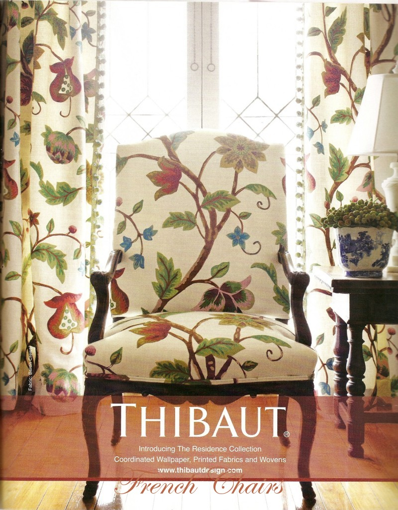 French Chair Thibaut Wallpaper Fabrics 800x1024