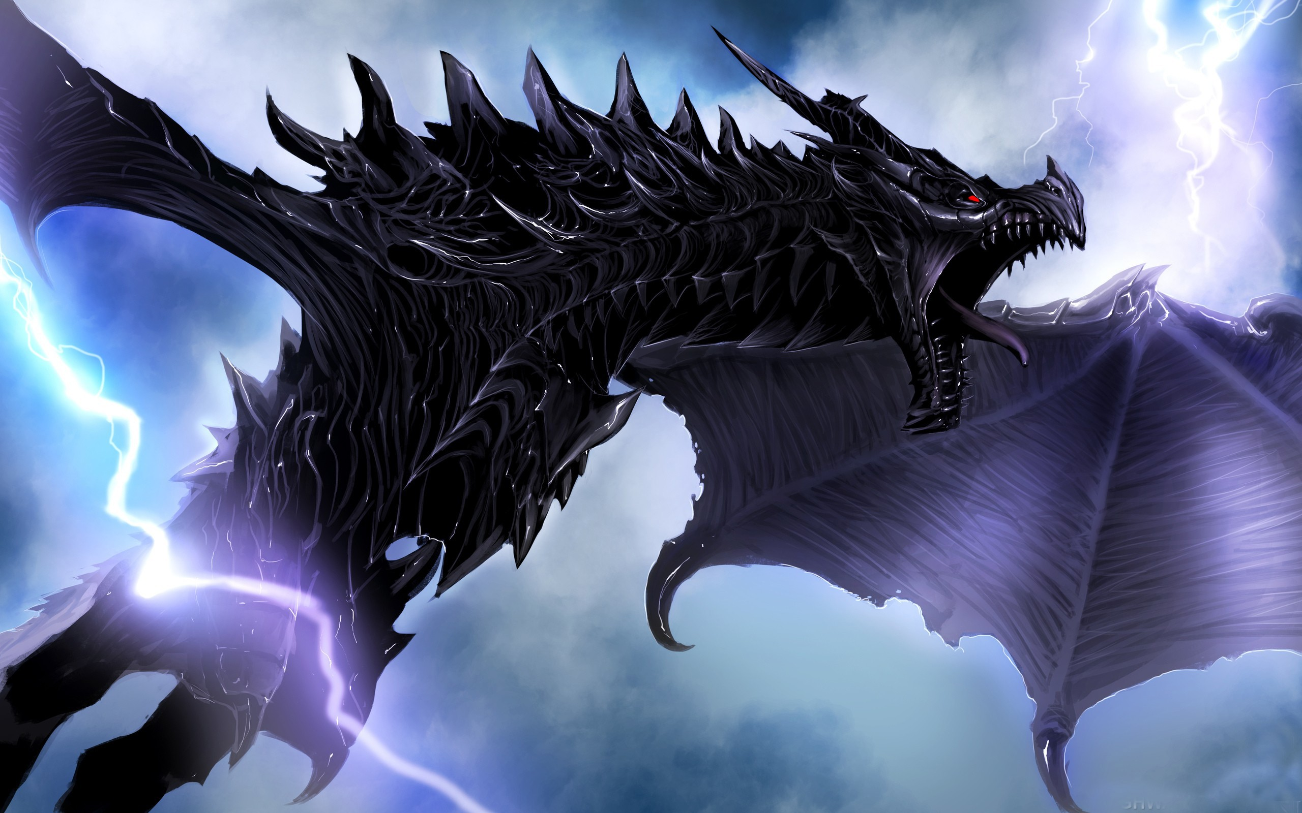 Gallery For gt Lightning Dragon Wallpapers 2560x1600