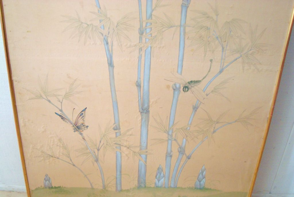 Large Vintage Gracie Hand Painted Framed Wallpaper Panel at 1stdibs 1024x686