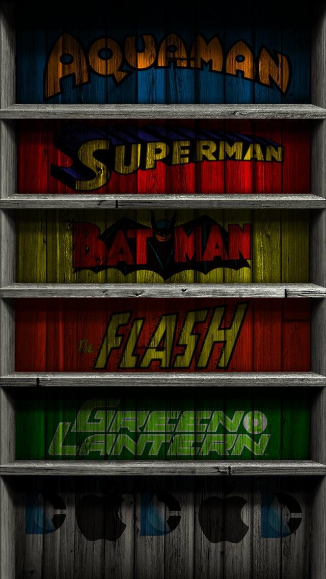 iPhone 5 wallpapers Superheroes 640x1136