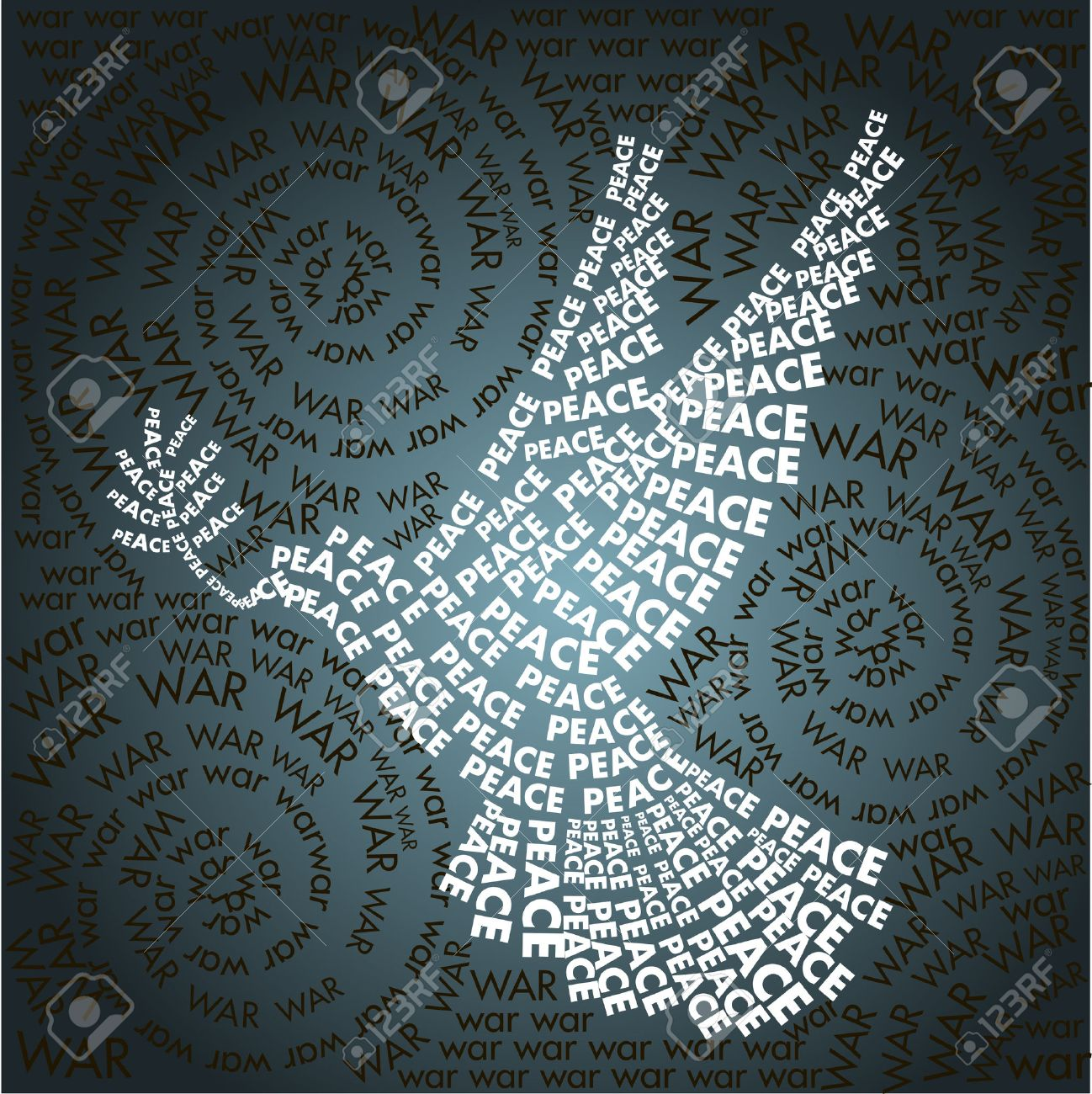Dove Of Peace In The Words Background Word War Day Related In 1298x1300