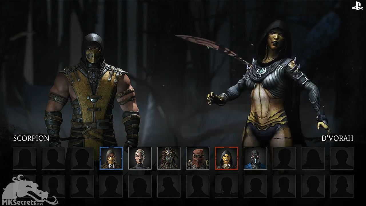 Mortal Kombat X E3 Select Screen Scorpion Vs Dvorah 1280x720