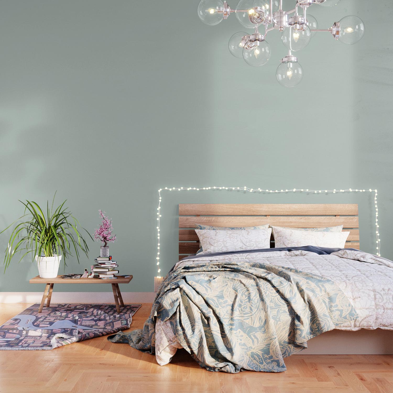 Palladian Blue Pale Soft Blue Green Satin Solid Matte Colour 1500x1500