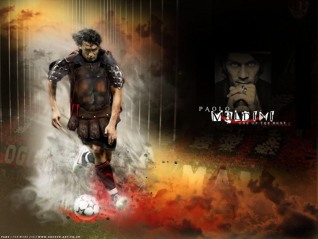 AC Milan PM   Paolo Maldini Wallpaper 15156448 1024x768