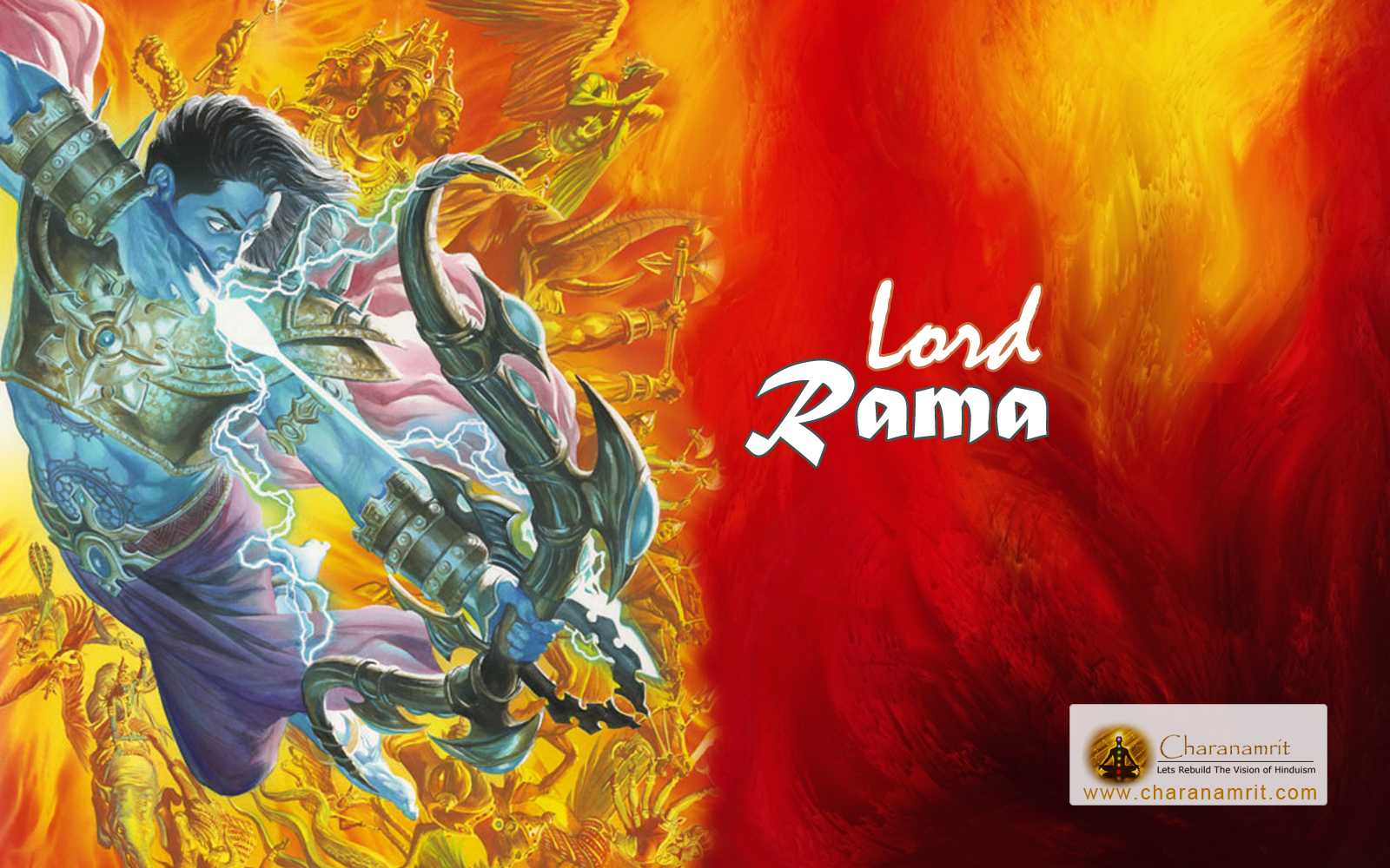 God Shri Ram angry stylish 3D HD Wallpaper for download Lord Ram 1600x1000