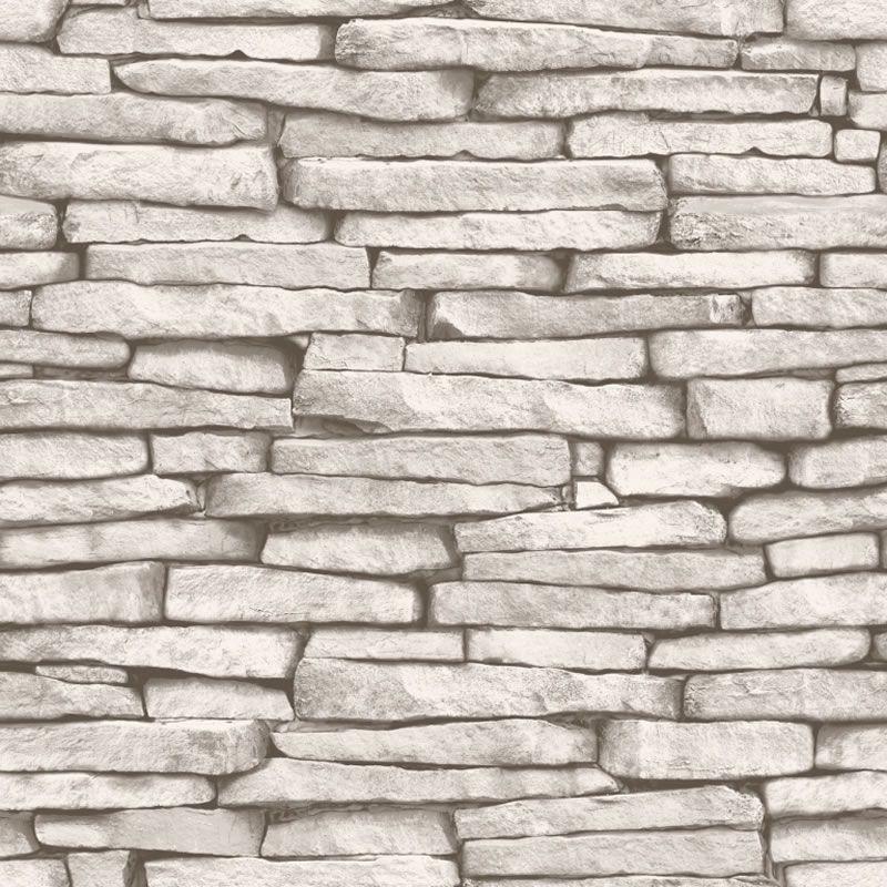 White Cream Grey   FD31292   Slate   Brick   Fine Decor Wallpaper 800x800