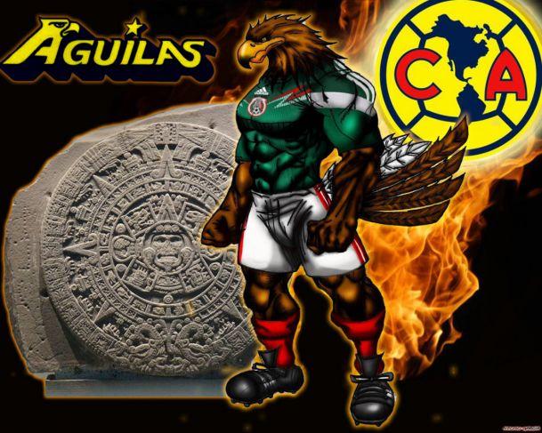 Aguila verde por Marduk28   Wallpapers   Fotos del Club America 609x487