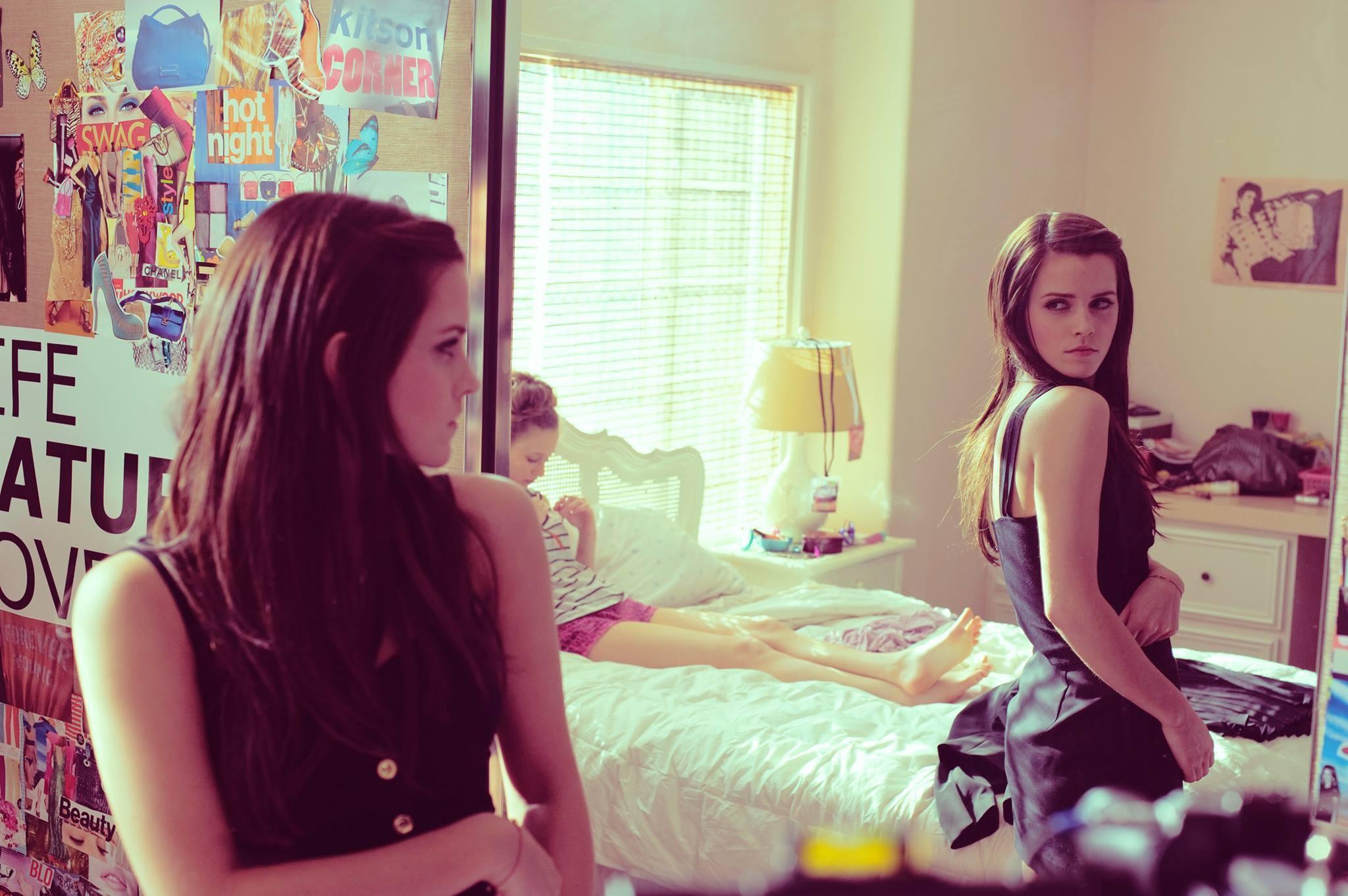 Wallpaper women anime brunette room purple Emma Watson The 2048x1362