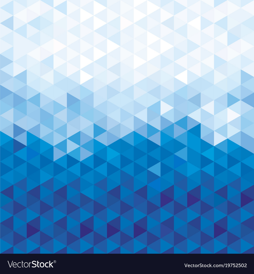 Blue crystal pattern background Royalty Vector Image 1000x1080