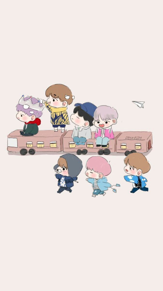 BTS Chibi Wallpapers   Top BTS Chibi Backgrounds 675x1200