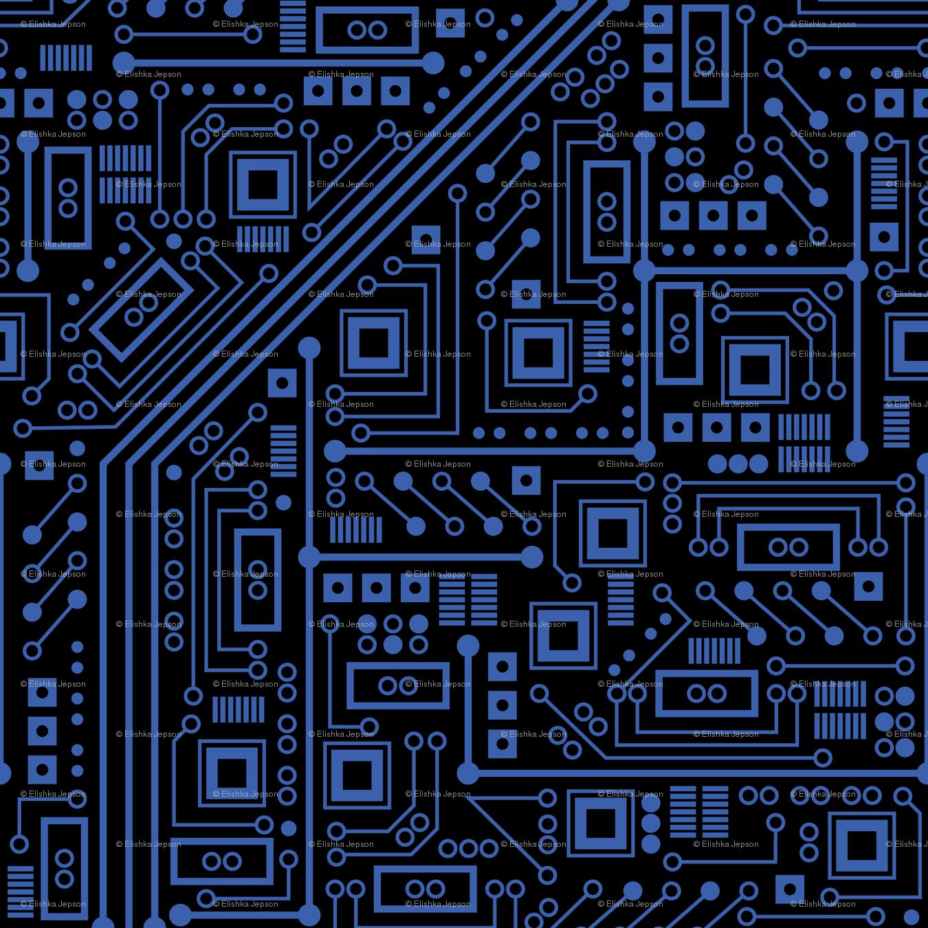Retro Robot Wallpaper Evil robot circuit board 1350x1350