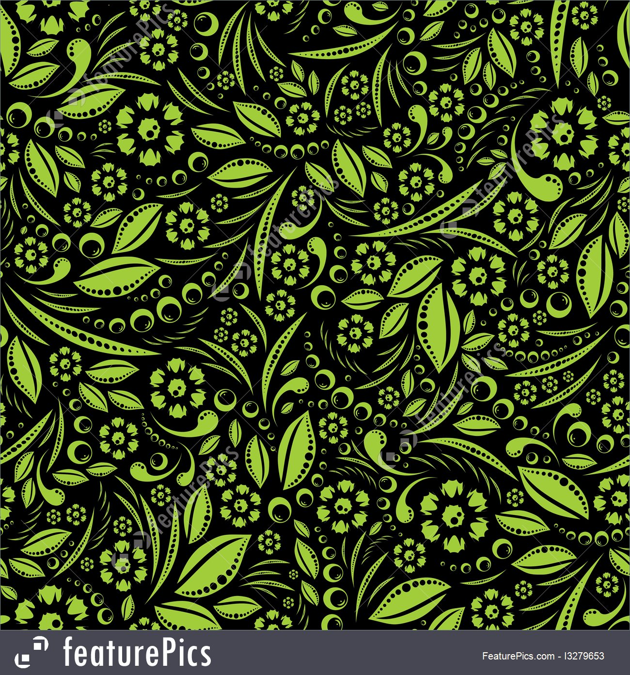 Abstract Patterns Green Vegetation Repeating Pattern   Stock 1300x1392