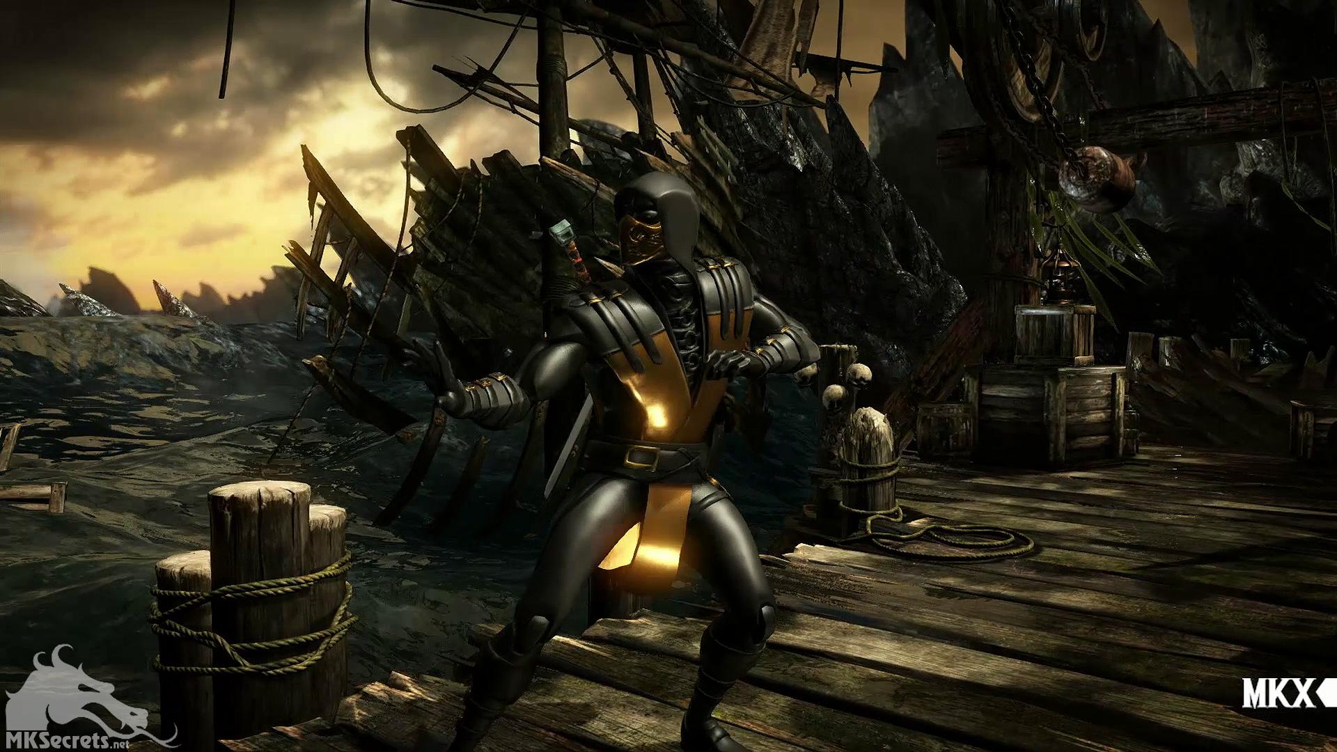Gold Scorpion Mortal Kombat X for Pinterest 1920x1080