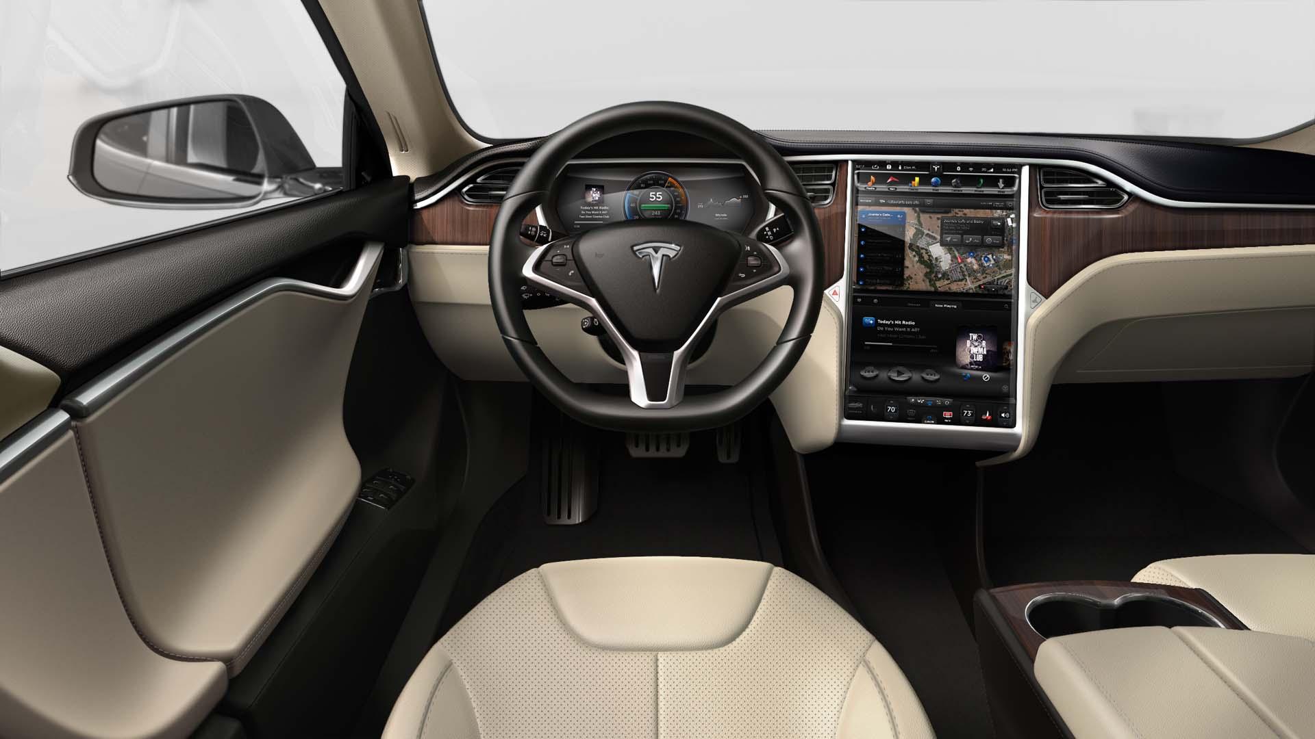 Tesla Model S X to receive spartan Model 3 interior design 1920x1080