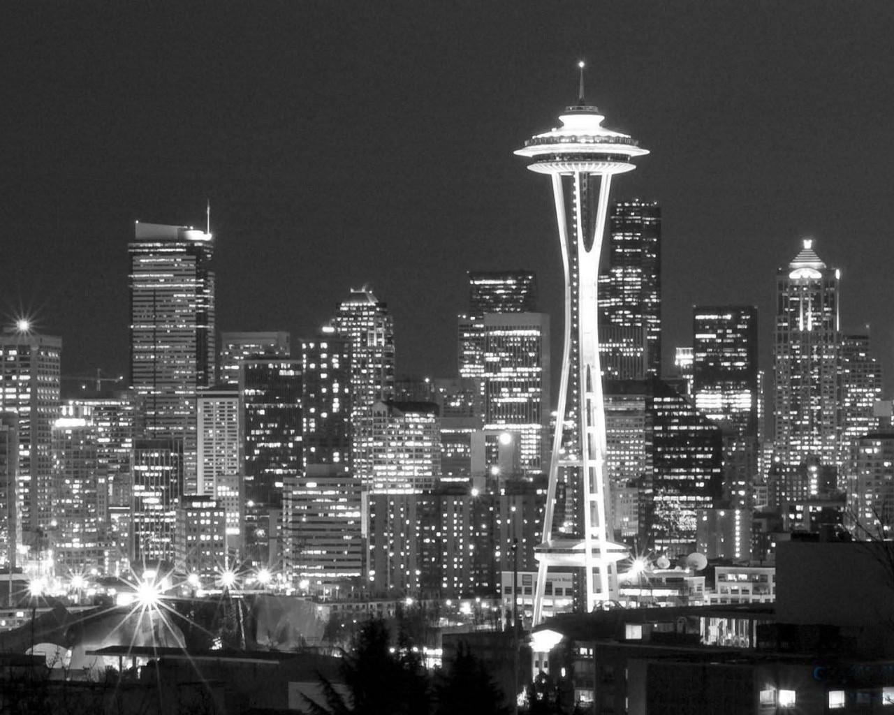 Black And White Wallpaper City 1280x1024