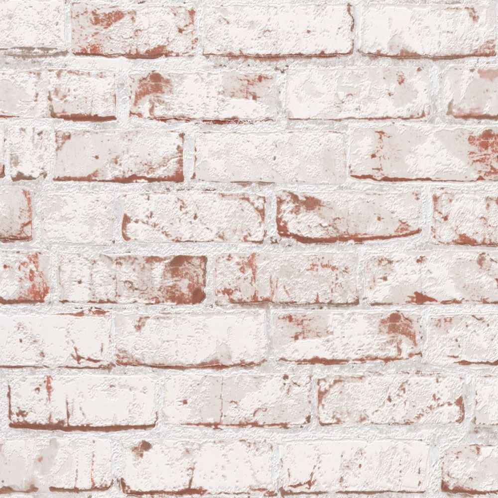 White   9078 13   Brick Effect   Distressed   AS Creation Wallpaper 1000x1000