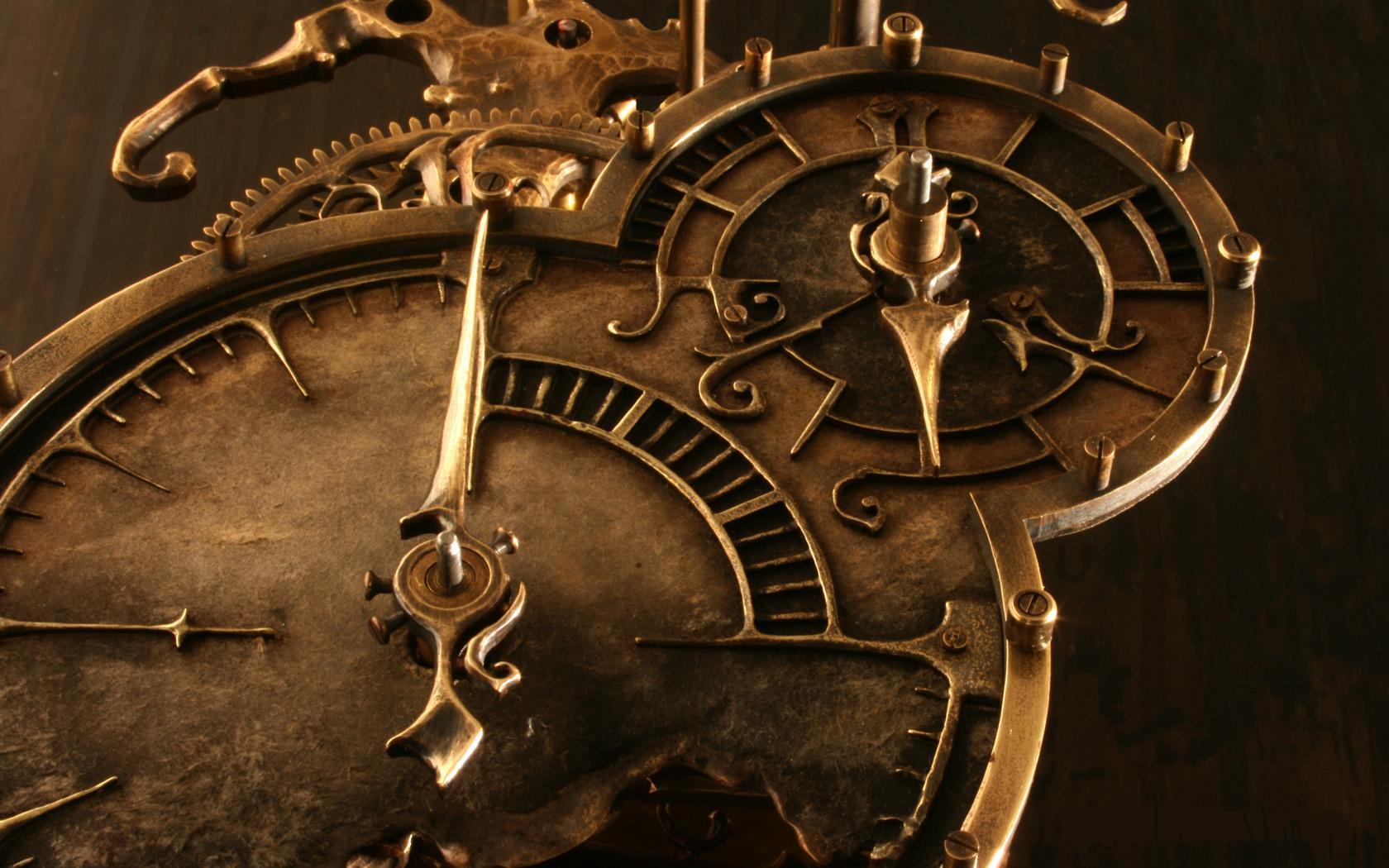 Steampunk mechanical clock watch bokeh e wallpaper 1680x1050 62180 1680x1050
